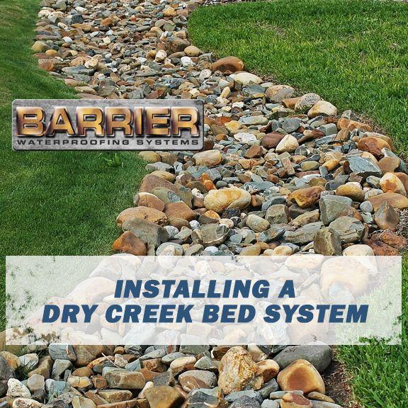 Nashville, TN Installing a Dry Creek Bed Barrier