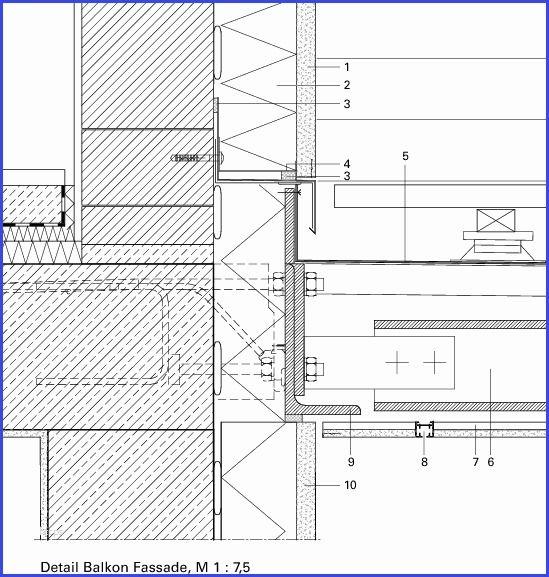 Balkon Detail Erstaunliche Deutsche Bauzeitschrift