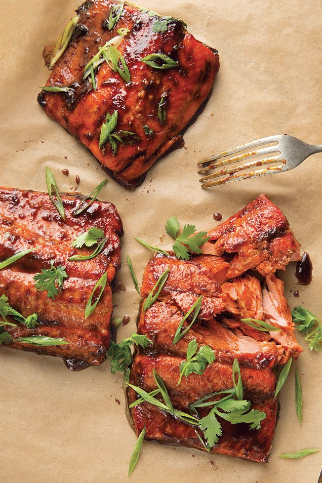 Sweet and spicy, this sriracha-glazed salmon recipe is a crowd-pleaser that's perfect for an easy dinner party since it comes together in minutes.