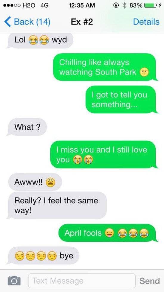 Top 10 Funniest April Fools Text Messages
