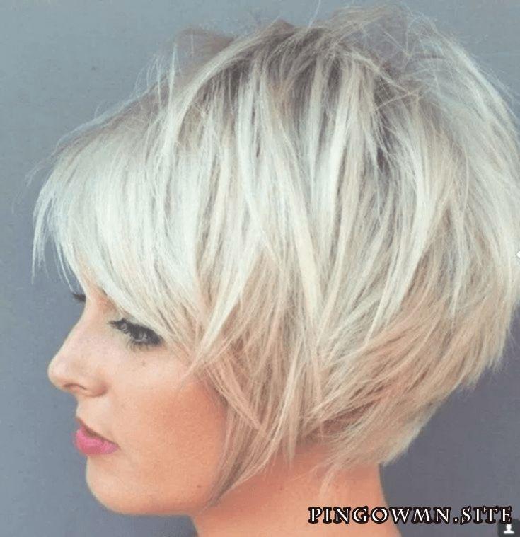 Blond Haare Bob frisur stufig von kurzer Dauer #Fr…