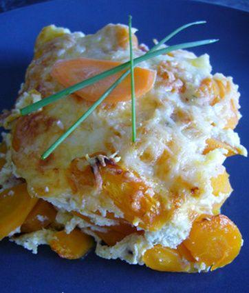 Gratin de carottes à la crème