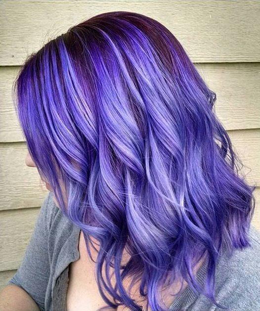 Gorgeous purple color melt by Amber Yancey. Purple hair. Lavender Hair Ombre Balayage Hair painting Mermaid Hair Rainbow Hair fb.com/hotbeautymagazine