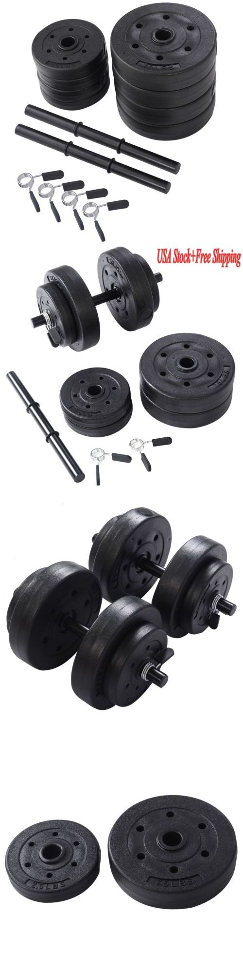 Dumbbells 137865: Adjustable Dumbbell Set 40 Lb Weight Cap Gym Barbell Plates Body Workout Black -> BUY IT NOW ONLY: $37.99 on eBay!