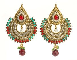 Colour me thus! These pair of #antique #polki #earrings are a fine addition to your traditional accessories. Shop for only INR600 at buybejeweled.in