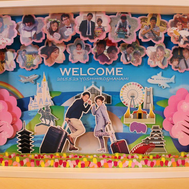 結婚式 ウェルカムボード 立体ウェルカムボード/デザイン/オリジナル♡ワクワクカンパニー