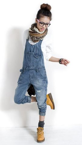 Women Retro Straps Denim Jeans Jumpsuit Romper Overalls Cargo Pant Trousers S-XL