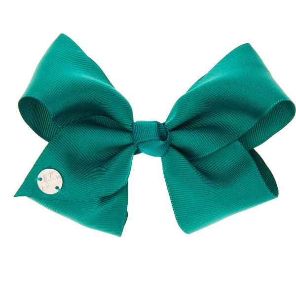 JoJo Siwa Small Green Back To School Hair Bow | Claire's ($9.01) ❤ liked on Polyvore featuring accessories, hair accessories, bow, bow hair accessories, hair bows and green hair accessories