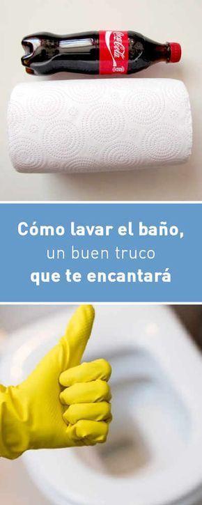 Cómo lavar el baño, un buen truco que te encantará #baño #inodoro #lavar #limpieza #DIY #tips #truco