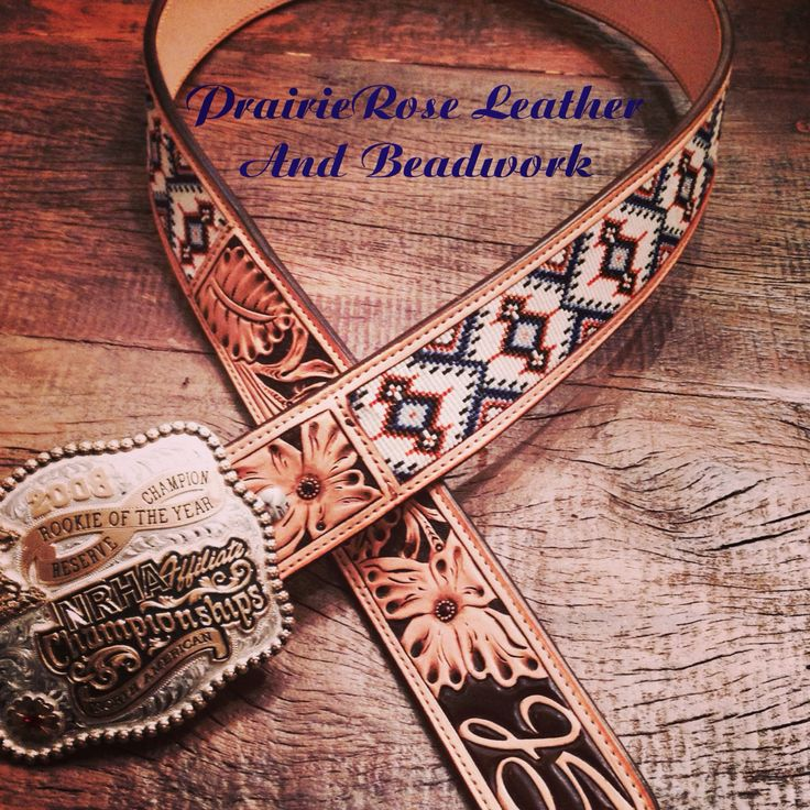 "Custom western beaded belt. Such a ""manly"" belt.                                                                                                                                                     More"