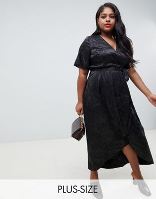 14e81e9ca03 New Look Curve jacquard dress in black in 2019