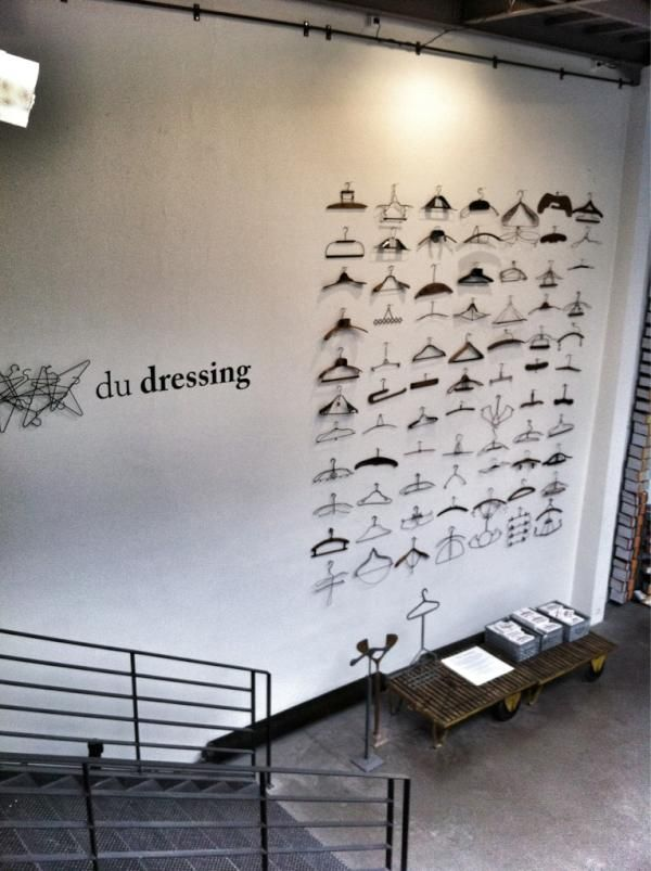 hanger display #retail #windows #creative