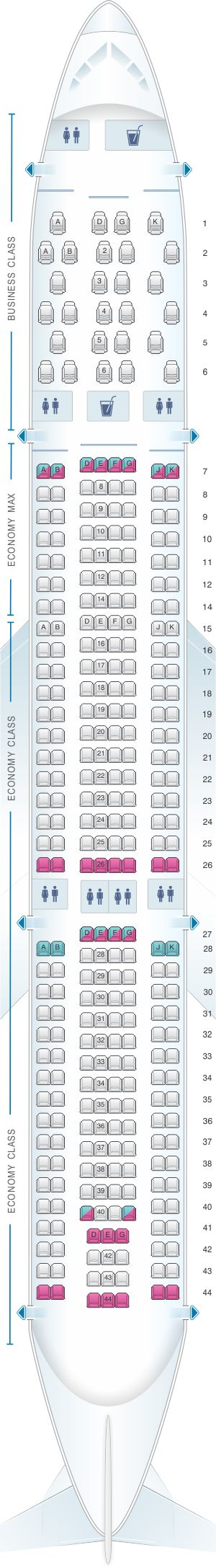 Seat Map Edelweiss Air Airbus A330 300