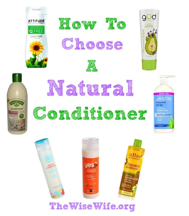 How to choose a healthy natural conditioner without harmful chemicals.