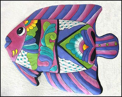 Garden Collection Tropical Fish Wall Art - Magenta - buy at Blue Barnacles, www.bluebarnacles.com