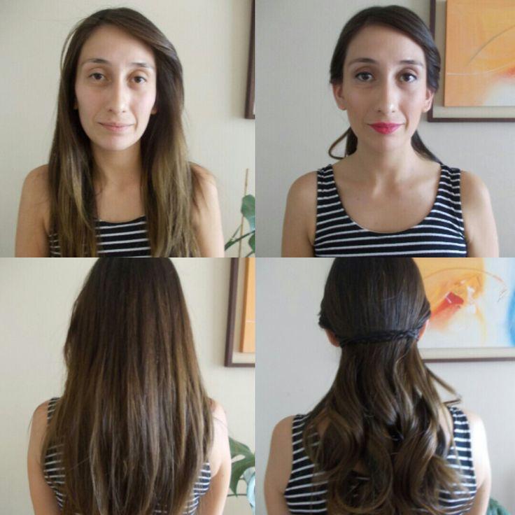Peinado y maquillaje sutil