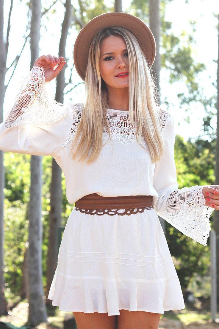 look do dia mari dalla blog vestido branco boho e chapeu 6