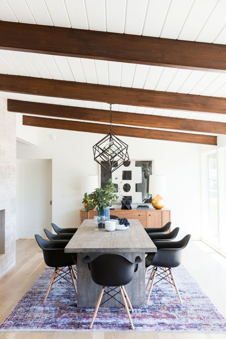 Shop Black Accent Plastic Dining Armchairs, DECO ABSTRACT, WARREN TABLE LAMP, MATTE BLACK STARS, YORK SIDEBOARD, HUDSON, Reclaimed Russian Oak Plank Rectangular Dining Table, CUBIST CHANDELIER and more