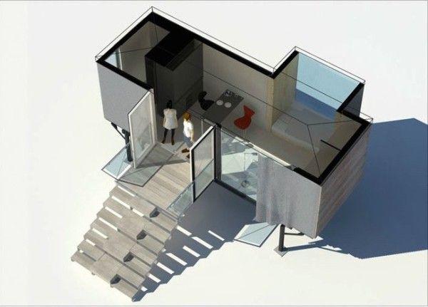 simple home portable tiny house on stilts 06