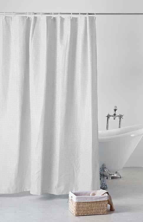 Waffleweave Shower Curtain White Jysk Curtains Decor Bath