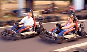 Groupon - Go Kart Races and Mini-Golf for 5, or Go-Kart Races for 2 at Cooter's Place (Up to 56% Off). 3 Options Available. in Gatlinburg. Groupon deal price: $18