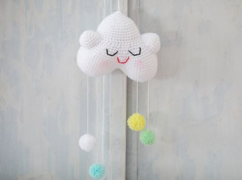 Mobiel wolkje 2 Cute 2 Be True #babykamer #kids #cute