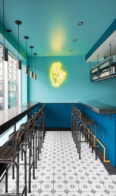 WAN INTERIORS:: Indian Snack Bar by David Dworkind in Montreal