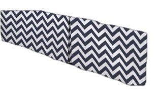 Solid Chevron Zig Zag Navy Blue and white Crib Skirt Tailored,  Box-Pleat or flat Baby Crib Skirt. Free Shipping. $49.00, via Etsy.