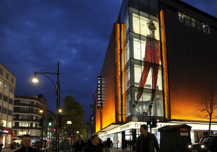 Light + Design - Debenhams Facade, Oxford Street