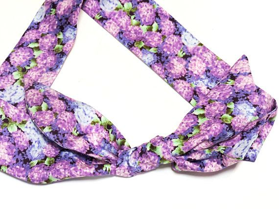 Floral Purple Hydrangea Cooling Scarf Gel Neck Cooler Bandana