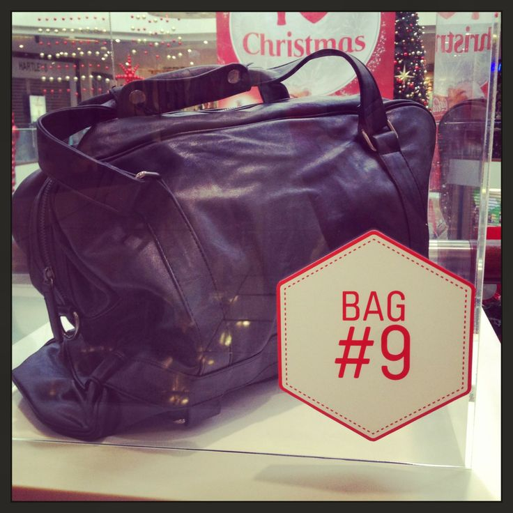 Bag NINE is for the next boys' weekend... San Michelle Bags have this wee number, just the right size and style to throw in the backseat and hit the road!