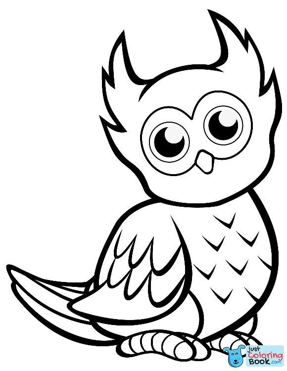 Cute Owl Coloring Page Free Printable Coloring Pages Within Free Cutest Cartoon Owl Coloring Pages Owl Coloring Pages Bird Coloring Pages Bee Coloring Pages