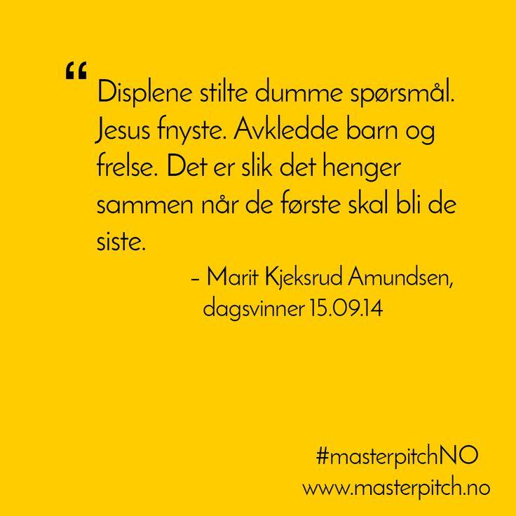 #dagenspitch 15.09! Gratulerer Marit Kjeksrud Amundsen!