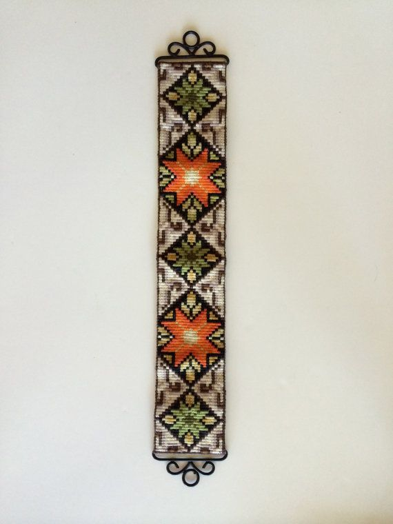 Scandinavian Tapestry Textile Wall Hanging by VintageByBeth