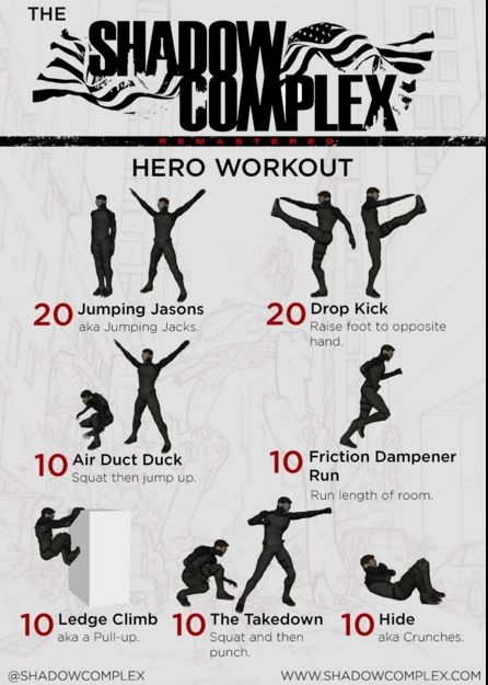 Forget P90X. Get in shape with the new Hero Workout from Shadow Complex!   www.shadowcomplex.com  #Fitness #P90X #Exercise #Hero #Workout #ShadowComplex #Videogame