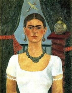 Frida Kahlo is a renowned Mexican painter, known especially for her striking self-portraits. Kahlo's paintings defined conventions of beauty and style, making her a voice for feminism around the world. Kahlo's rocky marriage and divorce, as well as her lifelong struggles with severe health problems, strongly influenced her artistic work. Many paintings convey themes of dualism, as well as physical and psychological wounds.