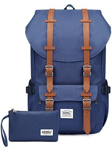 """Kaukko Laptop Outdoor Backpack, Travel Hiking& Camping Rucksack Pack, Casual Large College School Daypack, Shoulder Book Bags Back Fits 15"""" Laptop & Tablets (Nblue 2pcs). For product & price info go to:  https://all4hiking.com/products/kaukko-laptop-outdoor-backpack-travel-hiking-camping-rucksack-pack-casual-large-college-school-daypack-shoulder-book-bags-back-fits-15-laptop-tablets-nblue-2pcs/"""