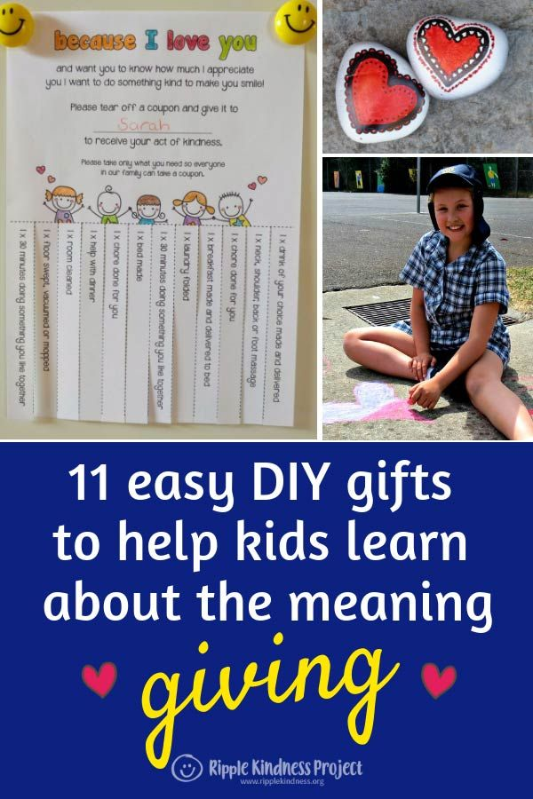 11 Easy Diy Gifts To Help Kids Learn The Meaning Of Giving Kids