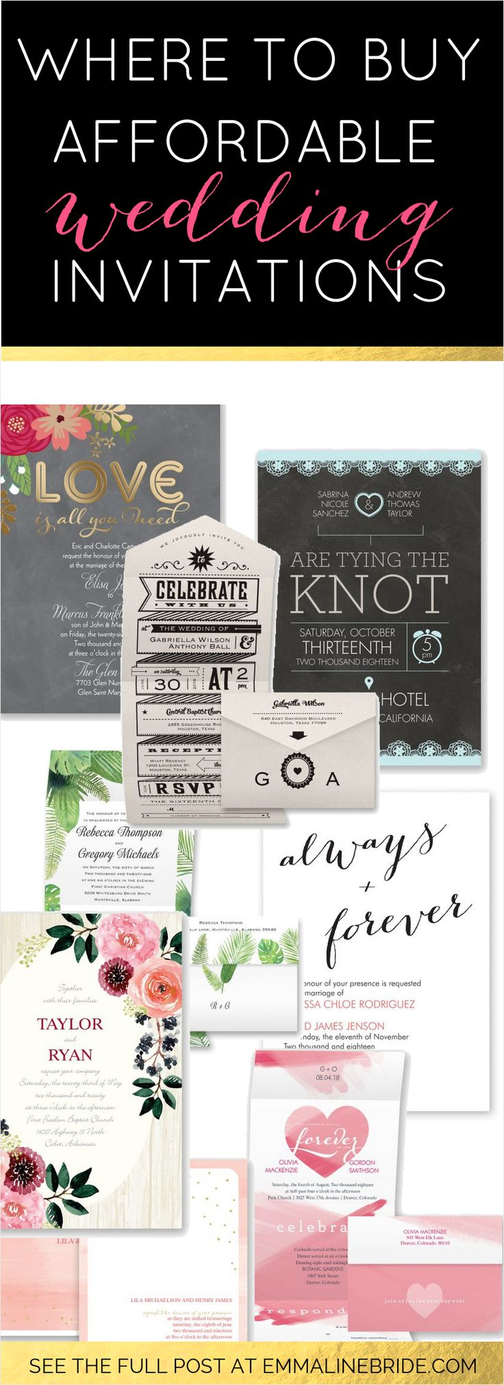 Where to Buy Affordable Wedding Invitations |  #affordableweddinginvitations #budget #cheap #David'sBridal #discount #inexpensive #inexpensiveinvitations #invitations #invitationsbydavid'sbridal #invites #promo #theme #wheretobuy |