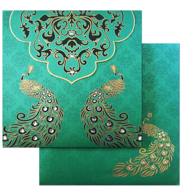 Peacock theme is trend of the town and who knows this better than designers at Regalcards ! Presenting a lovely peacock theme invitation card with a combination of classic damask motifs. Now available online at www.regalcards.com . So go ahead and treat your senses.