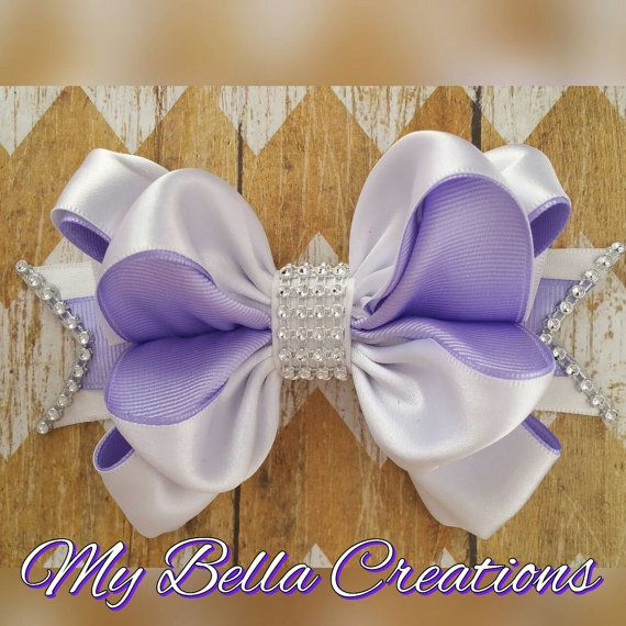 Check out this item in my Etsy shop https://www.etsy.com/listing/265393019/lavender-hair-bow-easter-bow