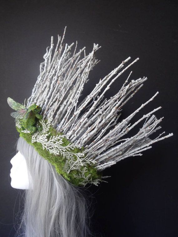 Fairy headpiece, fairy crown, fairy headdress, woodland fairy, stick crown, dryad headpiece, costume accessory, fairy costume, Burning Man