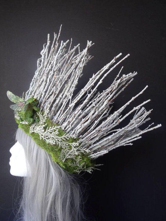 Fairy headpiece, fairy crown, fairy headdress, woodland fairy, stick crown, dryad headpiece, costume accessory, fairy costume, Burning Man