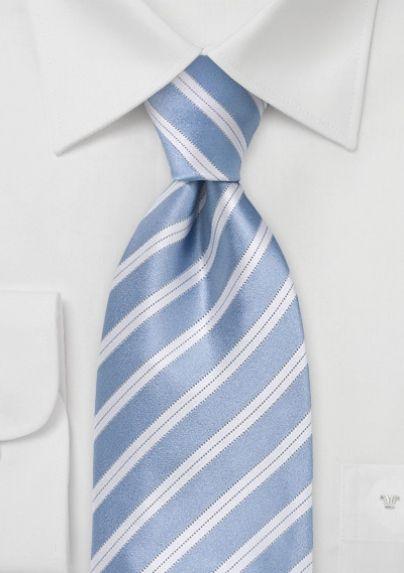 Slim necktie - Stripes in beige and intense green, white contours Notch