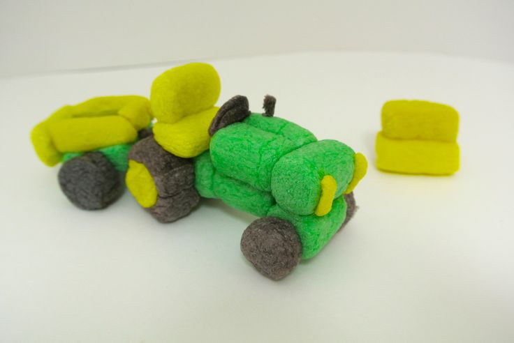 Tractor craft made with Magic Nuudles