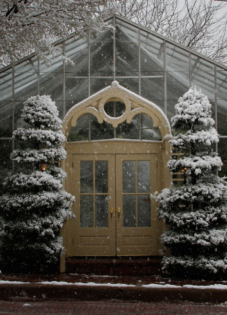 / / . The Conservatory, St. Charles!!! Bebe'!!! A Little Snow on the Conservatory!!!