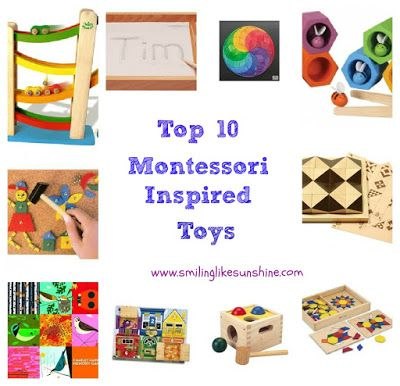 Smiling like Sunshine: Top 10 Montessori Inspired Toys (3-6 years old)