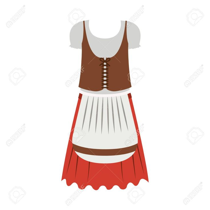 Female cloth icon. Oktoberfest germany culture festival and celebration theme. I…