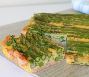 A healthy crustless quiche made with a smoked salmon base | Gluten Free | Dairy Free