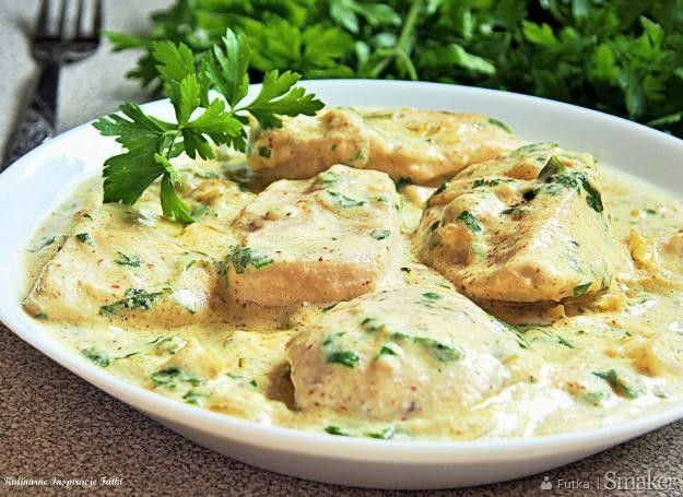 Kurczak w sosie musztardowo- śmietanowym [bez mąki]